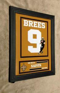 Drew Brees New Orleans Saints 8x10 Framed Jersey Photo