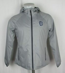 Detroit Tigers MLB Women's Medium Full Zip Hooded Windbreaker Jacket