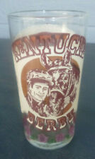vintage Kentucky Derby Official Drinking Glass Churchill Downs 1977 Burgundy