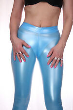 TRIALLAB TRANSPARENT LucidRubber CAMELTOE Leggings HL2AX - Blau/Weiss - M