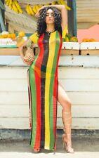 48x Ladies Rasta Stripe 100% Egyptian Cotton String Maxi dress wholesale joblot