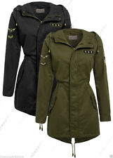Women's Hip Length Popper Trench Coats, Macs Coats & Jackets