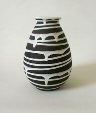 "50s Schlossberg Keramik Vase 105/20 ""Roulette"" german mid mod ceramic annees 50"