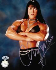 Chyna Signed 8x10 Photo BAS Beckett COA WWE Pro Wrestling Diva Picture Autograph