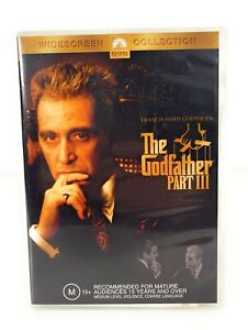 The Godfather Part III 3 (DVD, 1990) Al Pacino Region 4 Free Postage