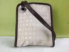 Auth Bulgari shoulder bag  Canvas Beige 5g145540