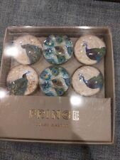 Fringe Glass Magnets Set Of 6 peacocks