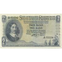 1962-65 South Africa 2 Rand ND -Pick # 105b - Very Nice Choice AU!-d899sut2