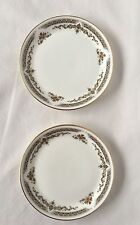 Gilded Royal Doulton Small Tea Side Plate Set Of (2)