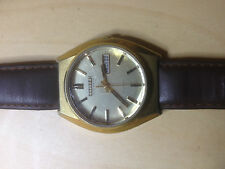 Citizen Genuine Leather Strap Polished Watches