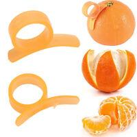 2Pcs Orange Opener Peeler Slicer Cutter Plastic Lemon Citrus Fruit Skin Remover