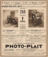 Y9242 Apparecchi fotografici PHOTO-PLAIT - Pubblicità d'epoca - 1931 Old advert