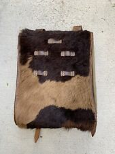 Vintage 1940s 1950s Wwii Cow Hide Cowhide Leather Military Backpack Austrian