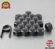 20 Car Bolts Alloy Wheel Nuts Covers 17mm Black For Seat Leon MK3