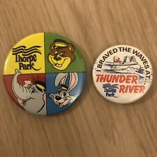 Vintage thorpe park Badges