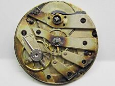 Antique No Name Pocket Watch Movement. 32 mm in size. porcelain dial *