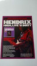 Jimi Hendrix High, Live 'N Dirty (1978) Rare Original Print Promo Poster Ad
