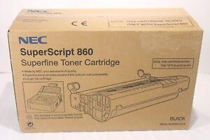 NEC SuperScript Super Script 860 Superfine Toner Cartridge Black New Sealed