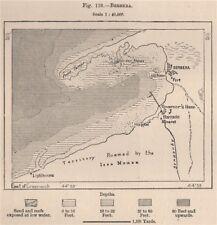 Berbera. SOMALIA 1885 VECCHIO ANTICO VINTAGE MAPPA piano Grafico