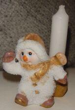 Schneemann mit Kerze Kerzenhalter Glitzer klein