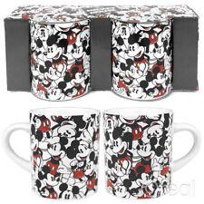 New Disney Mickey Mouse Repeat Set Of 2 Mini Mugs Espresso Retro Official