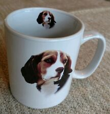 """Beagle mug from Bow Wow Meows, 4.25"""" high, white ceramic, w/ large handle"""