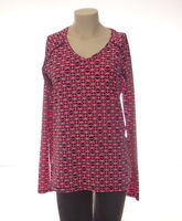 Under Armour Pink & Black Printed Long Sleeve Fitted Shirt Women's NWT
