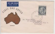 Stamps Australia 1/-&1/2d blue KGV1 issue Guthrie generic cachet FDC, addressed