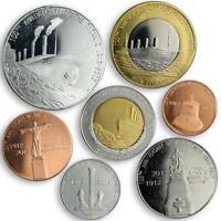 Redonda, set of seven coins 100th Anniversary Titanic Memorial 2012