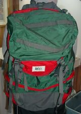 REI Hiking Backpack Green With Red trim