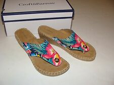 Croft & Barrow Wedge Floral Celyn Size 8 NEW Shoes Women's Sandals $59.99