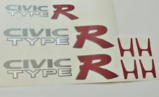 Honda Civic Ek9 Tipo R Sticker Set Inc 2 X Panel Lateral + Bota calcomanía-Jdm
