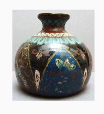 Vase ou cloche en émail cloisonné Japon 19e siècle enamel vase