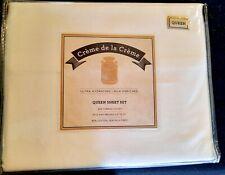 Creme de le Creme~ Queen 4 Pc Sheet Set - White 300 Thread Count New Unused