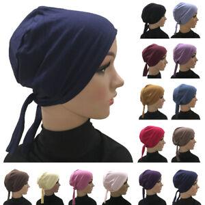 Muslim Women Under Scarf Hijab Turban Bonnet Inner Cap Headwear Hat Arab Islamic
