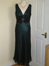100% Silk Jones New York Wedding Evening Party Dress Size UK 10