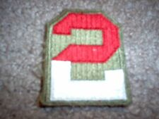 WWII US Army Second Army patch cut edge