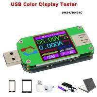 UM24C/UM24 USB 2.0 Color LCD Display Tester Voltage Current Power Temp Meter