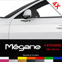MÉGANE Stickers 4 Autocollants Adhésifs Renault Portière Porte Phase 1