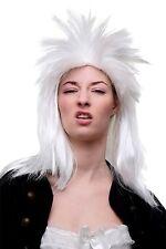 Rocker peluca blanca Rock me Amadeus Rockstar punk pelo peinado 70er 80er nuevo