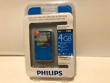 Philips GoGear ViBE 4gb Aqua Blue MP3 Video Player New Sealed