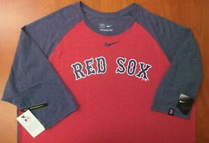 Nike Boston Red Sox Baseball Authentic Tri-Blend 3/4 Sleeve Shirt 3XL ~NWT~