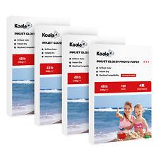 400 Sheets Koala 4X6 Premium Glossy Inkjet Printer Photo Paper 48lbs Epson HP