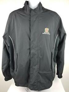 FootJoy FJ DryJoys Sz L Golf Rain Black Jacket Zip Weston Hills Country Club