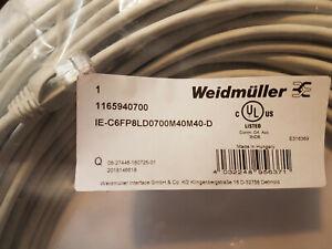 Weidmüller RJ45 Netzwerk Anschlusskabel CAT 6a S/FTP 70 m Grau UL-zertifiziert