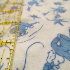 Vtg 40s 50s cotton baby flannel fabric remnant scrap bundle Ice Skating 3 oz