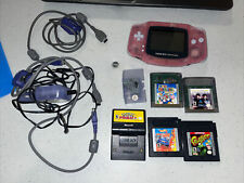 Vintage 2000 Game Boy Advance Console + 5 Games + Cords *WORKS* (1201A)