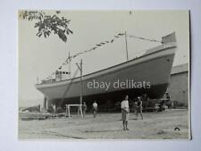 TRIESTE Nave ship barca cantiere 1947 vecchia foto Penco
