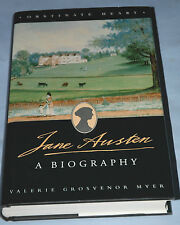 JANE AUSTEN: A BIOGRAPHY Valerie Grosvenor Myer 1st h/b 1997