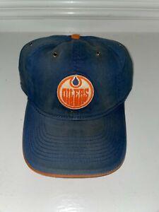 NWT Edmonton Oilers NHL Cap Hat CCM L/XL Vintage Look